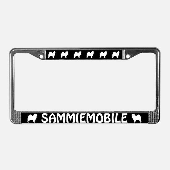 Sammiemobile (Samoyed) License Plate Frame