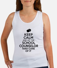 Keep Calm School Counselor Tank Top