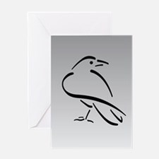 Crow Greeting Card