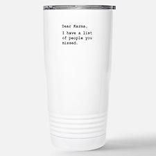 Unique Karma Travel Mug