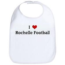 I Love Rochelle Football Bib