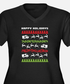 Holiday EMT Ugly Sweater Plus Size T-Shirt