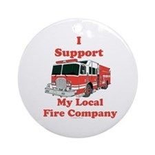 Fire Company Round Ornament