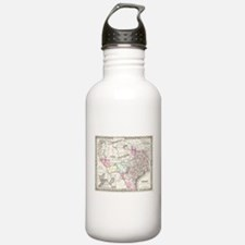 Vintage Map of Texas ( Water Bottle