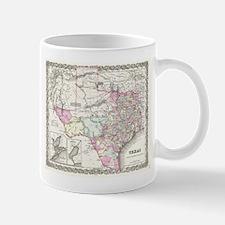 Vintage Map of Texas (1855) Mugs