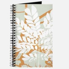 pastel abstract leaf print Journal