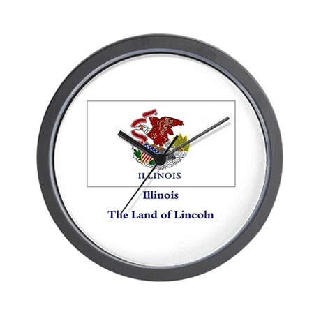 Illinois State Flag Wall Clock