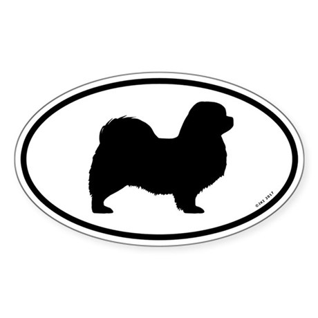 Tibetan Spaniel Oval Sticker