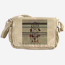 native tribal pattern dream catcher Messenger Bag