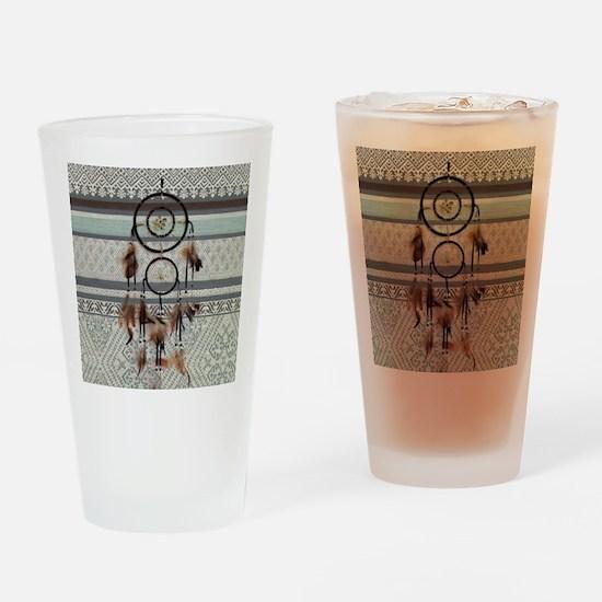 native tribal pattern dream catcher Drinking Glass