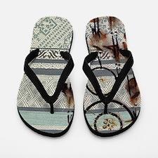 native tribal pattern dream catcher Flip Flops