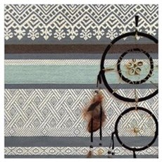 native tribal pattern dream catcher Canvas Art
