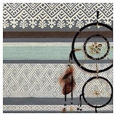 native tribal pattern dream catcher Poster