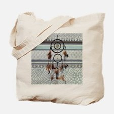 native tribal pattern dream catcher Tote Bag