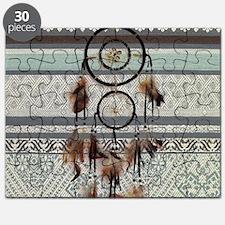 native tribal pattern dream catcher Puzzle