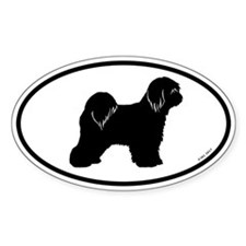 Tibetan Terrier Oval Decal