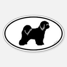 Tibetan Terrier Oval Decal