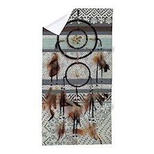 native tribal pattern dream catcher Beach Towel