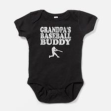 Grandpas Baseball Buddy Baby Bodysuit