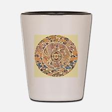 chinese dragon gold kimono Shot Glass