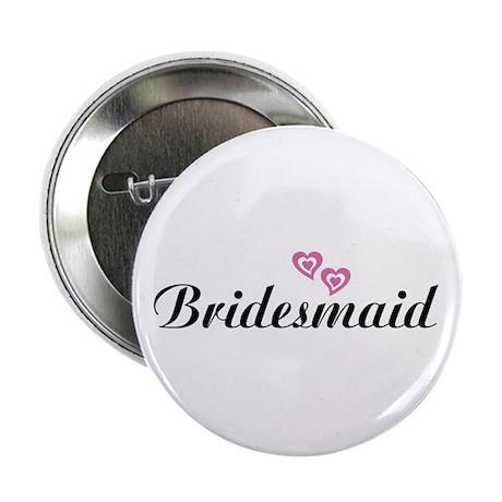 Bridesmaid Black Button