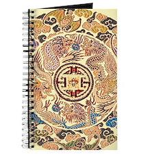 chinese dragon gold kimono Journal