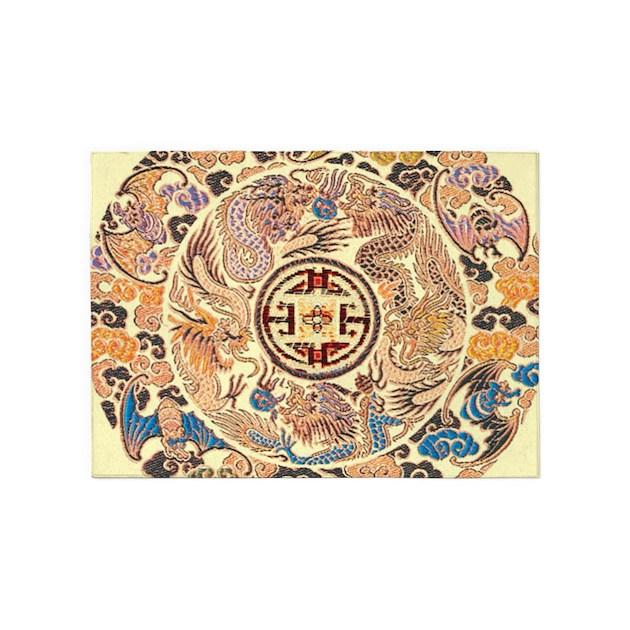 Chinese Dragon Gold Kimono 5'x7'Area Rug By ADMIN_CP62325139