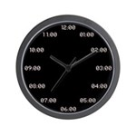 Digital Analog Wall Clock