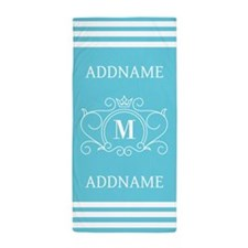 Personalized Name Monogram Beach Towel