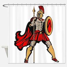Spartan Warrior Shower Curtain