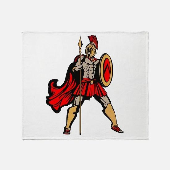 Spartan Warrior Throw Blanket