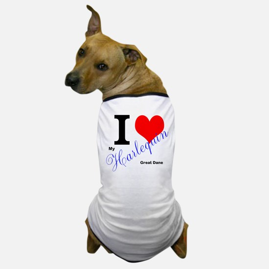 I heart my harlequin Great dane Dog T-Shirt