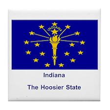 Indiana State Flag Tile Coaster
