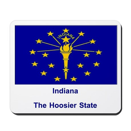 Indiana State Flag Mousepad