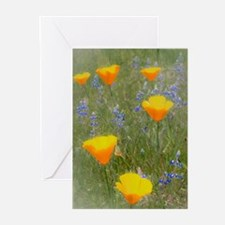 Field of Wildflowers Greeting Cards