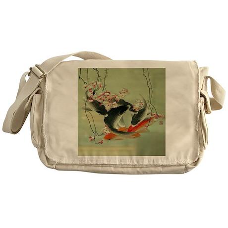 Zen japanese koi fish messenger bag by listing store 62325139 for Koi fish purse