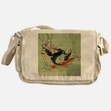 zen japanese koi fish Messenger Bag