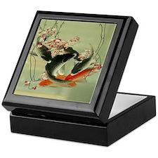 zen japanese koi fish Keepsake Box