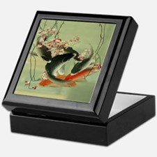 zen japanese koi fish Keepsake Box