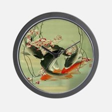 zen japanese koi fish Wall Clock
