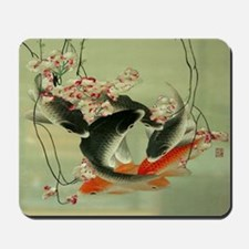 zen japanese koi fish Mousepad
