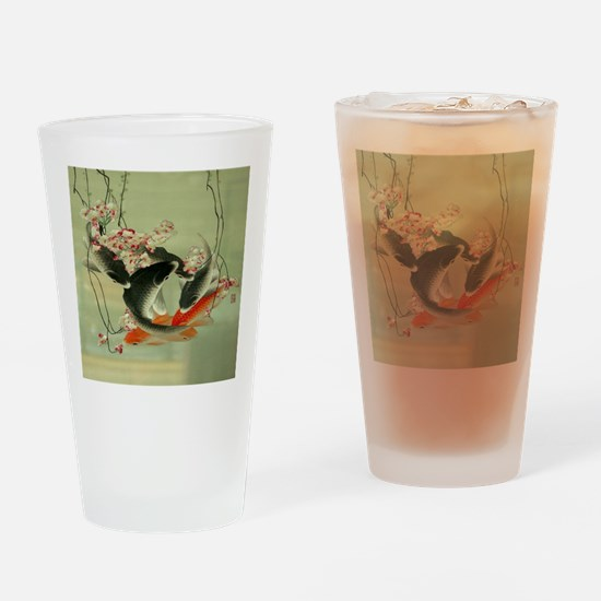zen japanese koi fish Drinking Glass