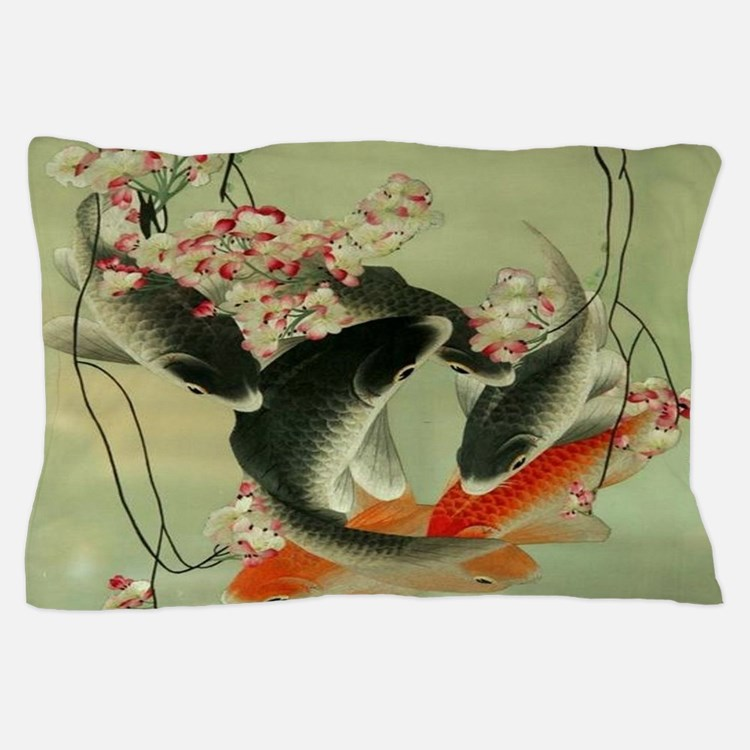 Ukiyo e bedding ukiyo e duvet covers pillow cases more for Koi fish pillow