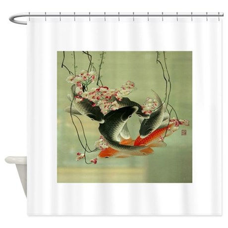Gray Striped Shower Curtain Pagoda Shower Curtain