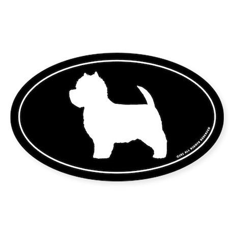 West Highland White Terrier Oval Sticker