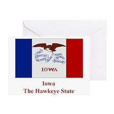 Iowa State Flag Greeting Card