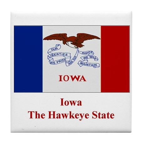 Iowa State Flag Tile Coaster