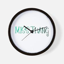 MISS THANG Wall Clock