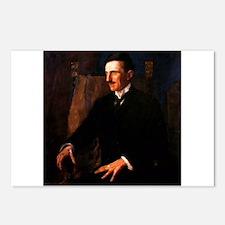 Nikola Tesla - the Blue Portrait Postcards (Packag