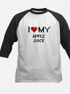 I Love My Apple Juice Digital desi Baseball Jersey